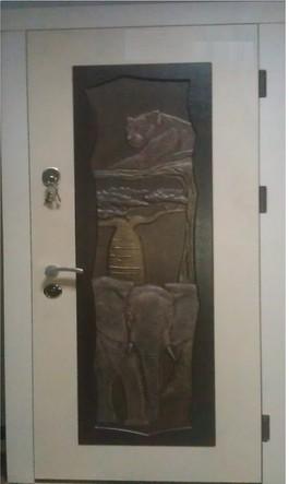 Входная дверь БЕЛЫЙ ЛЕОПАРД 960*2050